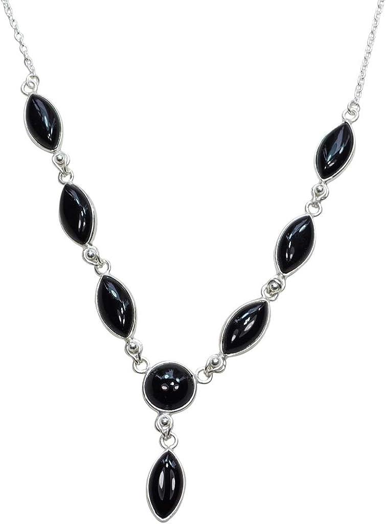 CZgem Black Onyx Earrings 925 Sterling Silver Olive Shaped Gemstone Untreated Drop Earrings Gift for Mum