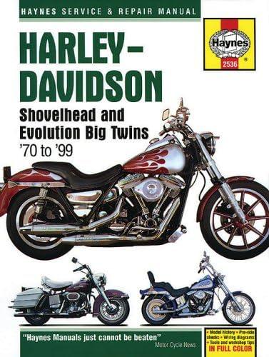 Harley Davidson Shovelhead & Evolution Big Twins 1970-1999 (Haynes Service  & Repair Manual): Schauwecker, Tom: 9781563925368: Amazon.com: BooksAmazon.com