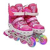 AALHM Children's Skates Set Full Flash Adjustable Size Wear Resistant (Color : Blue, Size : S)