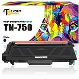 Toner Bank 1 Pack TN750 Toner Cartridge Compatible for Brother TN-750 TN750 8910DW MFC-8910DW 5470DW mfc 8710DW MFC8710DW 8950DW HL-5450DN HL-6180DW MFC-8510DN HL-5470DWT DCP-8110DN DCP-8155DN Printer