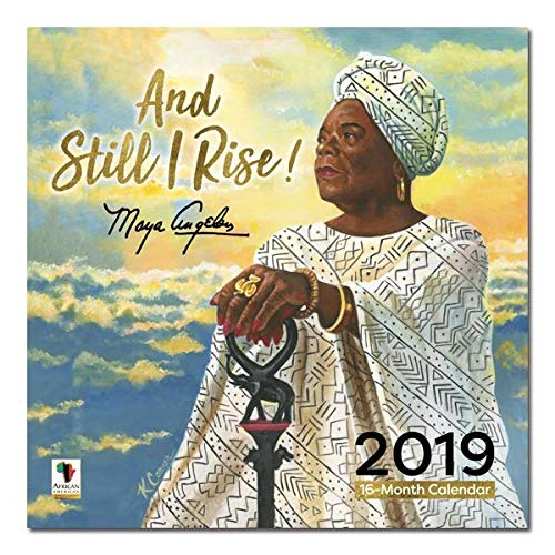 "Office Products : African American Expressions - 2019 and Still I Rise Maya Angelou 12 Month Calendar (12"" x 12"") WC-181"