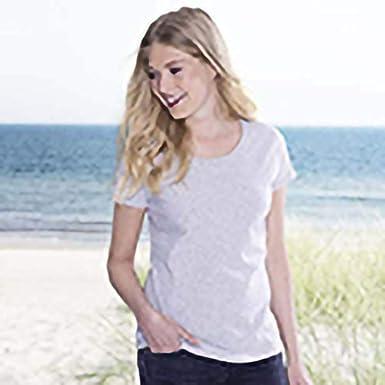 3 Or 5 Pack Fruit of the Loom Ladies Ringspun Premium T-Shirt Half Sleeves Top