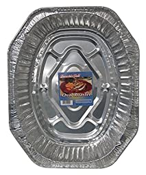 Durable Foil Oval Aluminum Roasting Pan with Label, 18-1/2\