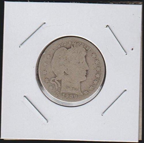 1909 D Barber or Liberty Head (1892-1916) Quarter Good