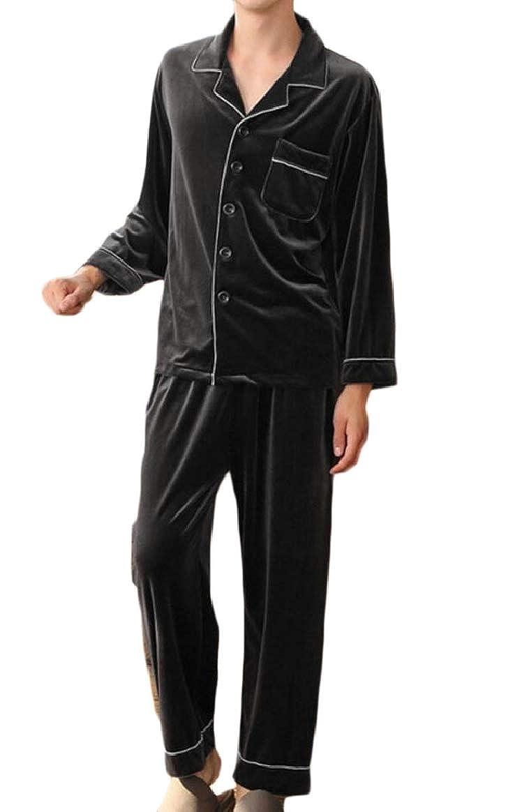 6 pujinggeCA Women Pajamas Set Long Sleeve Sleepwear Ladies Soft Loungewear PJ Set
