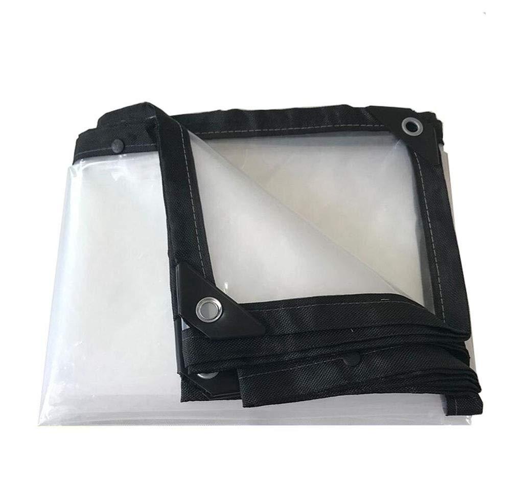 5×6m HRFHLHY BÂche Imperméable en Plastique Transparente épaisse De BÂche, Boutonnière Facile à Plier Le Tissu De Film D'isolation De BÂche De Polyéthylène PE,5×6M