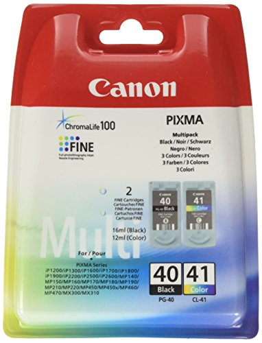 Canon Cl 41 Inkjet - PG-40/CL-41 multi pack, 2 ink cartridges, blister with security