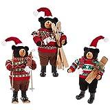 Raz Imports, 19 Inch, Plush Skiing Bears, Set of 3 Assorted