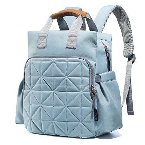 SoHo Kenneth Diaper Backpack 6Pc Tote Bag, Aqua