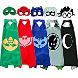 NuGeriAZ Halloween Costumes for Kids Compatible Superhero Capes and Mask Dress up for Kids(5Pcs)
