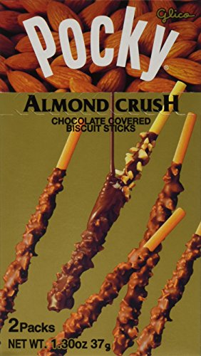 Glico Almond Crush Chocolate Cream Covered Biscuit Sticks, 1.30 Ounce (Pack of 120) by Glico
