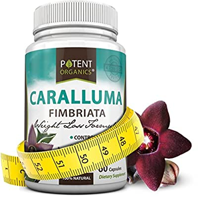 Pure Caralluma Fimbriata Extract - All Natural Appetite Suppressant and Herbal Weight Loss Aid - Strongest Formula, 1000mg - 60 Vegetarian Capsules