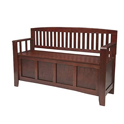 Phenomenal Amazon Com Indoor Storage Bench Wooden Ideal For Indoor Machost Co Dining Chair Design Ideas Machostcouk