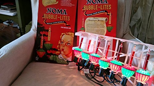 Noma Bubble Lite Set of 7 Vintage Special Edition Christmas Lights Nostalgia
