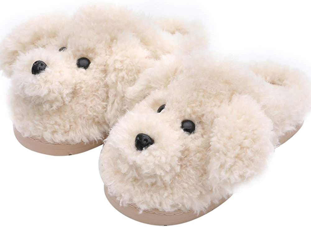 Women's Cute Teddy Animal Slippers House Slippers Warm Memory Foam Cotton Cozy Soft Fleece Plush Home Slippers Indoor Outdoor