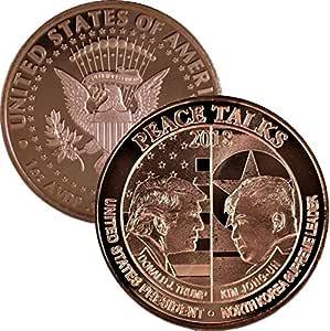 Jig Pro Shop Peace Talks Donald Trump - Kim Jong-Un 2018 1 oz .999 Pure Copper Round/Challenge Coin