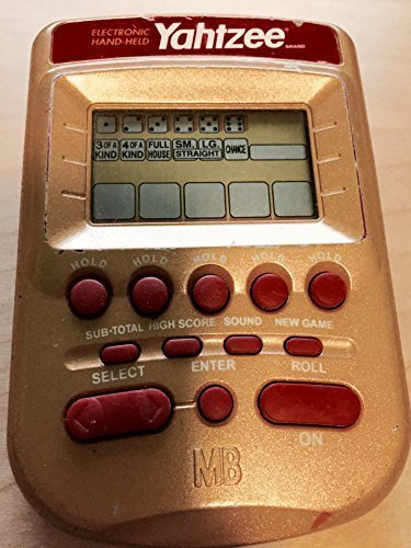YAHTZEE Electronic Handheld 1995 Game (New Battery Included) by Milton Bradley