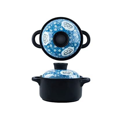 ZN-pot Cazuela Ceramica Resistencia a Altas temperaturas Salud Olla de Sopa Gas de Fuego