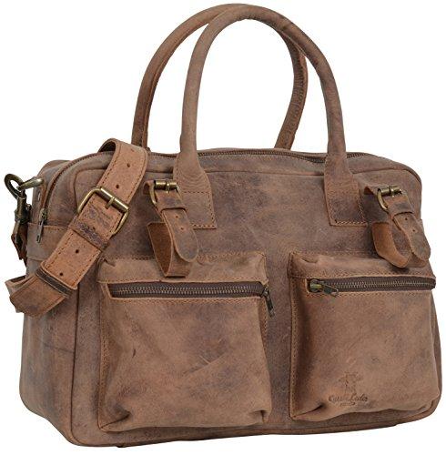"""Gusti Cuir studio """"Logan"""" sac camera sac à bandoulière sac avec anses sac à main sac porté épaule et main sac de voyage en cuir leger vintage unisexe 2M27-17-1"""