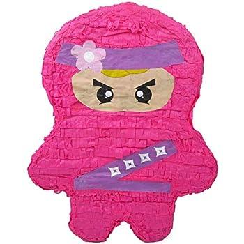 Amazon.com: Piñata rosa Ninja para fiesta de cumpleaños de ...