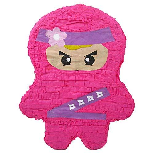 Pink Ninja Girl Party Pinata for Kids Birthdays -