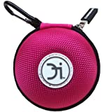 CASEBUDi Pink - Small case for your Earbuds, Apple wireless AirPods, iPod Shuffle, iPhone Charger, Coins, or small Bluetooth headset