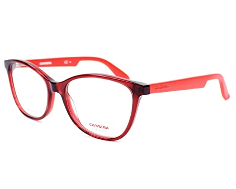 Carrera 5501 Eyeglass Frames CA5501-0BDA-5217 - Burgundy Matte Red ...