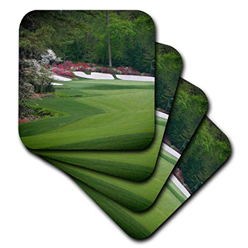 (3dRose Augustas Amen Corner Golf Course - Where Dreams are Made and Lost II - Soft Coasters, Set of 4 (CST_131408_1))