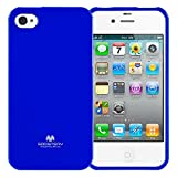 GOOSPERY Marlang Marlang iPhone 4/4S Case - Navy Blue, Free Screen Protector [Slim Fit] TPU Case [Flexible] Pearl Jelly [Protection] Bumper Cover for Apple iPhone4S, IP4-JEL/SP-NVY