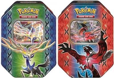 Pokemon 2014 Legend of Kalos Spring EX Tins SET BOTH (2 tins - 1 of each )