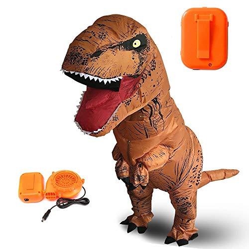 Inflatable Dinosaur Costume Adult Trex Costume for Halloween -