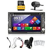 Car Autoradio 2din GPS SAT Navigation TouchScreen Car DVD Player In-dash Car Audio Car Stero AM/FM Radio Bluetooth Map iPod Backup Camera