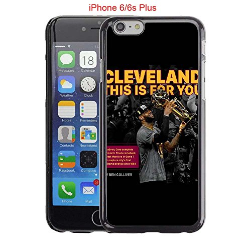 iPhone 6 Plus Case, iPhone 6S Plus Cases, Cleveland Cavs Basketball Team Logo 23 Drop Protection Never Fade Anti Slip Scratchproof Black Hard Plastic Case