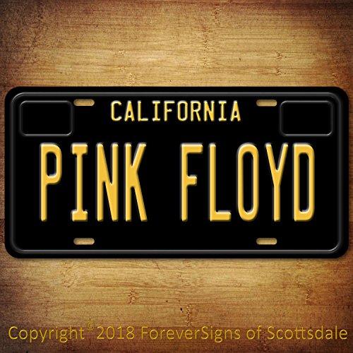 Forever Signs Of Scottsdale Pink Floyd Rock Band California Vanity Aluminum License Plate Black