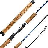 Entsport Color Fish 1-Piece Casting Rod Fast Bass Fishing Rod 24 Ton Carbon Fiber Baitcasting Rod 6-Feet Inshore Baitcaster Rod Medium Freshwater Baitcast Bait Cast (6′- Medium Light- 1pcs- Blue) For Sale