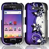 galaxy blaze cover - Bundle Accessory for T-mobil Samsung Galaxy S Blaze 4g T769 - Purple Vine Designer Hard Case Protector Cover + Lf Stylus Pen