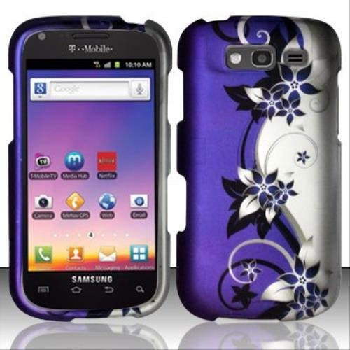 Bundle Accessory for T-mobil Samsung Galaxy S Blaze 4g T769 - Purple Vine Designer Hard Case Protector Cover + Lf Stylus Pen ()
