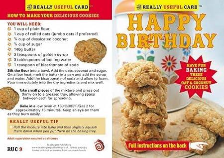 Tarjeta de felicitación de cumpleaños con una deliciosa ...