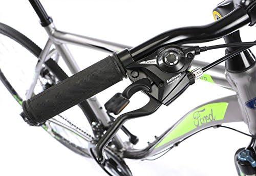 Bicicleta híbrida Ford Kuga DD para hombre., color Silver / Green, tamaño 53 cm, tamaño de rueda 28.00 inches: Amazon.es: Deportes y aire libre
