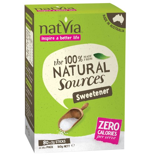 Natvia 100 % Natural Sweetener 80 Sticks (Pack of 1)