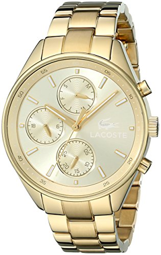 Lacoste Women's 2000866 Philadelphia Gold-Tone Stainless Steel Watch
