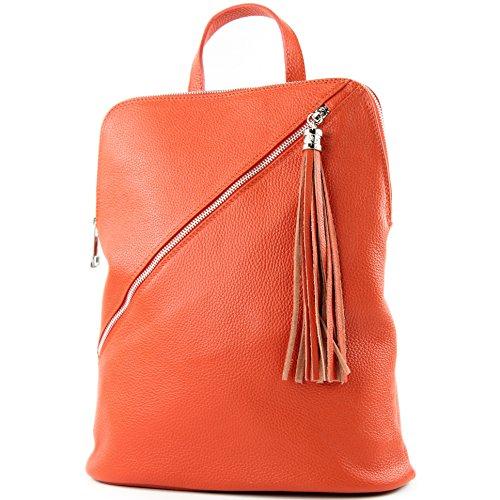 de modamoda mochila Orange de de 3en1 T161 señoras bolsa italianas cuero T141 wHwCYT