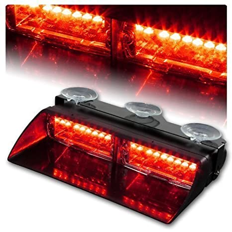 Jackey Awesome Car 16-led 18 Flashing Mode Emergency Vehicle Dash Warning Strobe Flash Light (Red & White) JackeyAwesome-01-163