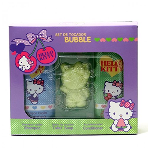 Hello Kitty BUBBLE by Sanrio Hair/Shower Care Set (Shampoo/Conditioner/Toilet Soap) by SANRIO