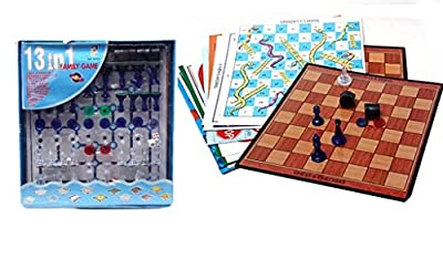 Magnetic Chess set with 13 More Multi board Game For kids
