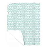Crib and Change Table Sets Canada Kushies Deluxe Changing Pad Flannel, Turquoise Octagon