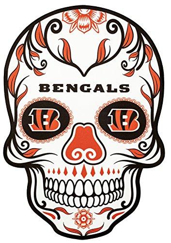 Applied Icon NFL Cincinnati Bengals Outdoor Small Dia De Los Muertos Skull Decal