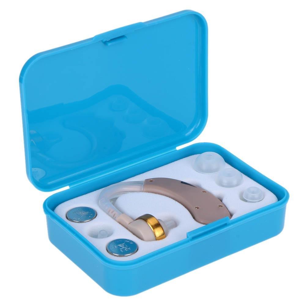 Appareil auditif amplificateur Portable Vieux Homme Derrière l'oreille une Aide auditive avec ensemble de boîte