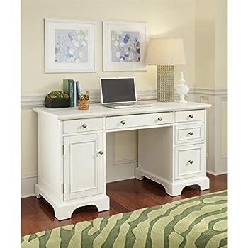 Amazoncom Home Styles 553018 Naples Pedestal Desk White Finish