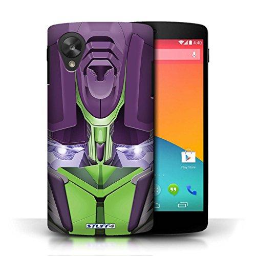 Etui / Coque pour LG Google Nexus 5/D821 / Opta-Bot Vert conception / Collection de Robots